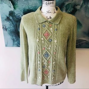 CHENILLE Alfred Dunner Green & Floral
